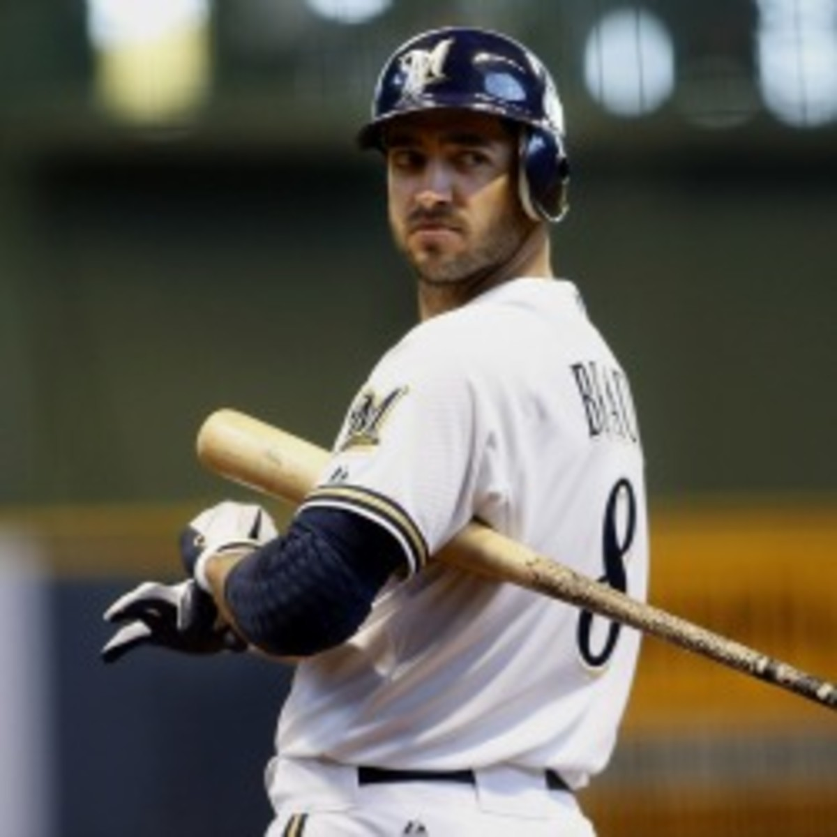 Brewers outfielder Ryan Braun's name shows up in the records of a Miami clinic alleged to have given PEDs to MLB players. (Mark Hirsch/Getty Images)
