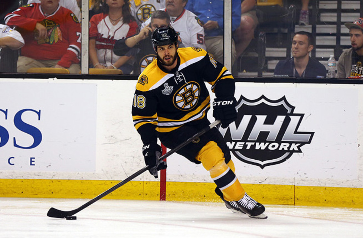 Nathan Horton signed a sever-year $37.1 million contract with the Blue Jackets this summer.