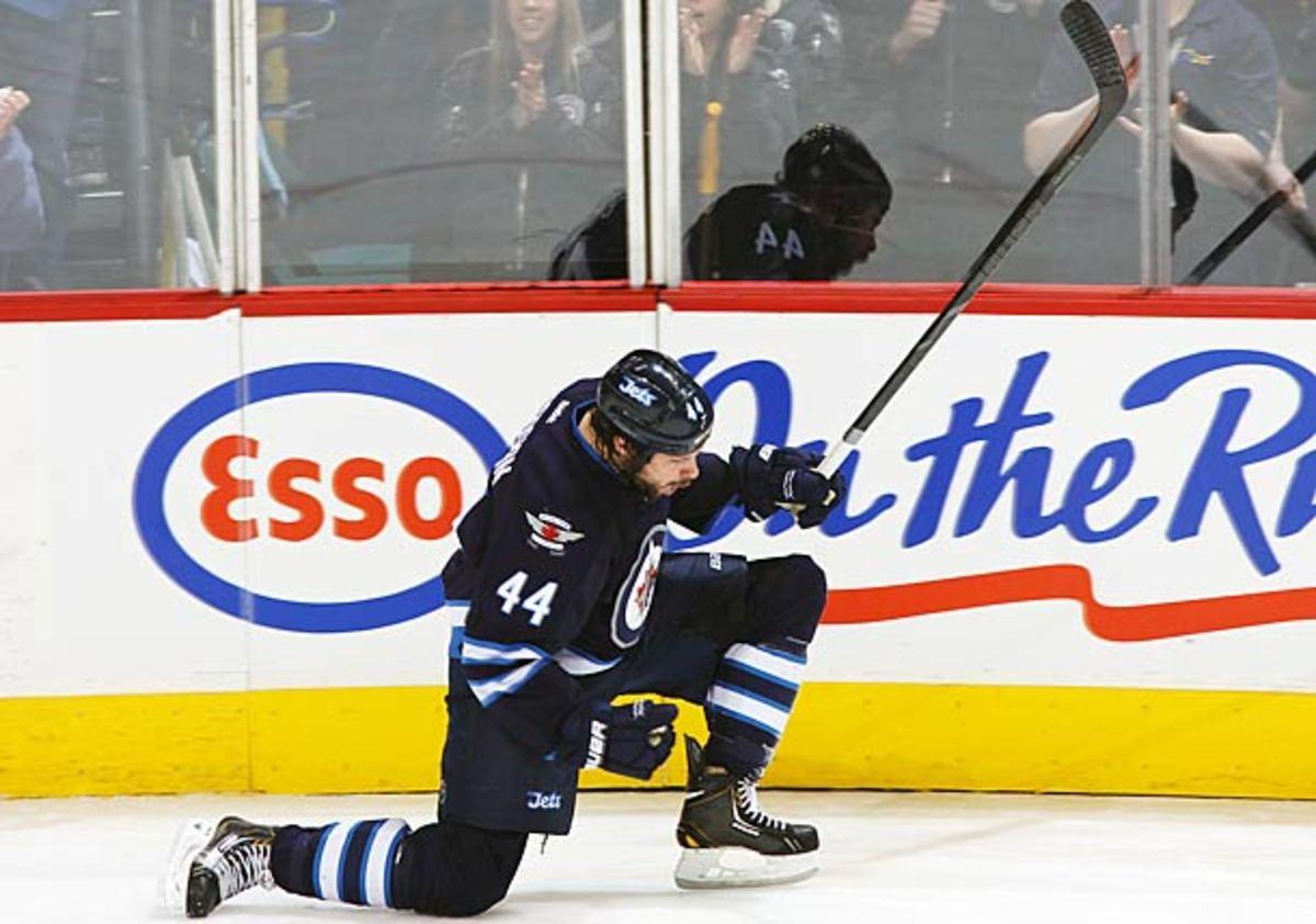 Zach Bogosian of the Winnipeg Jets