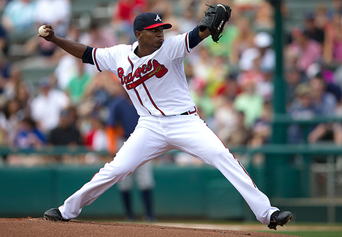 Atlanta's Julio Teheran didn't give up a single hit in three separate outings during spring training.
