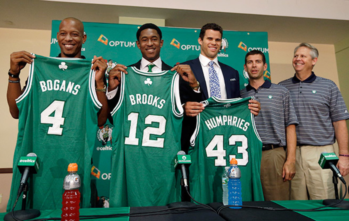 The Celtics acquired Keith Bogan, MarShon Brooks and Kris Humphries in their deal with the Nets.