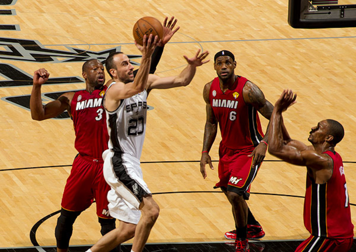 Manu Ginobili of the San Antonio Spurs will start of Game 5 of the NBA Finals