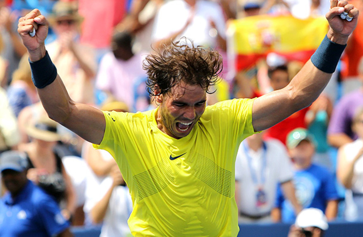 Rafael Nadal beat John Isner on Sunday for his first-ever title at the Western & Southern Open. (Jim Owens/Icon SMI)