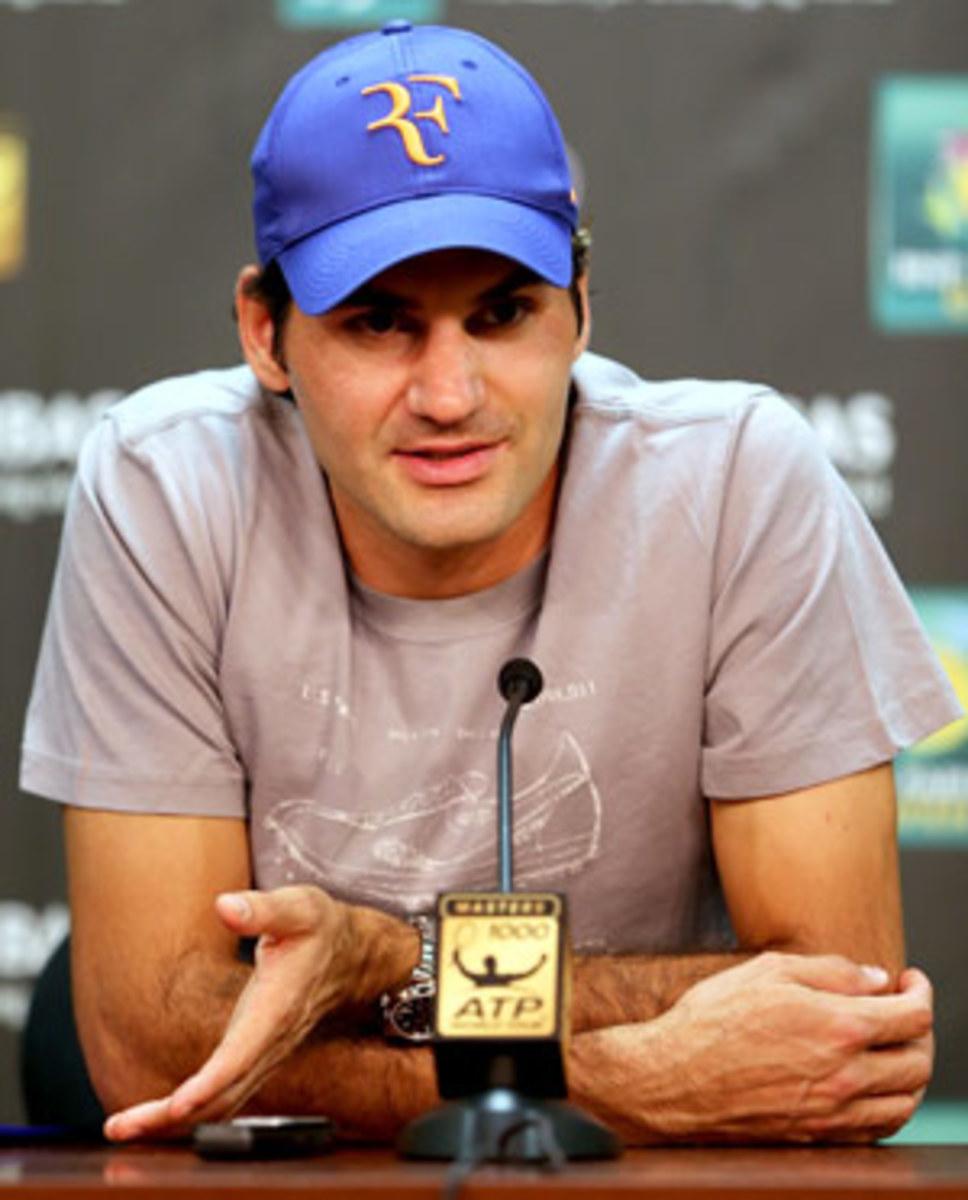 Roger Federer at Indian Wells