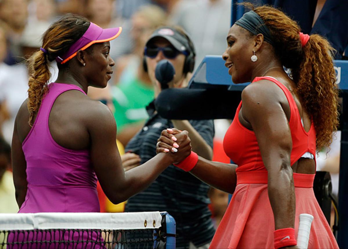 Sloane Stephens and Serena Williams