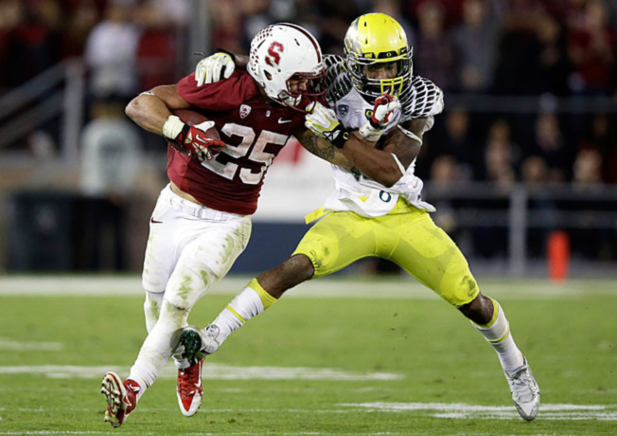Tyler Gaffney carried the ball 45 times in Stanford's methodical win over previously unbeaten Oregon.