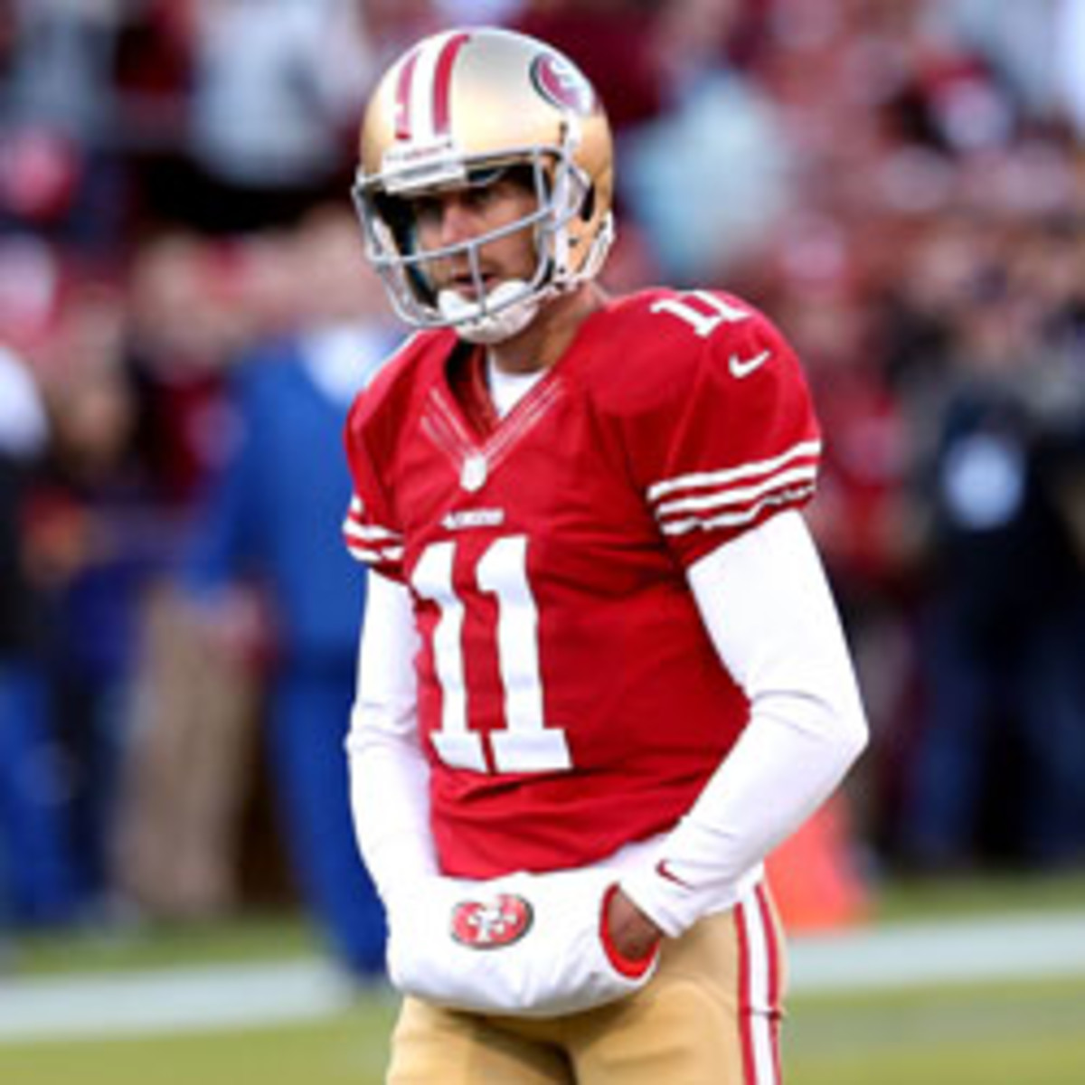 The 49ers have agreed to trade Alex Smith to the Chiefs. (Stephen Dunn/Getty Images Sport)