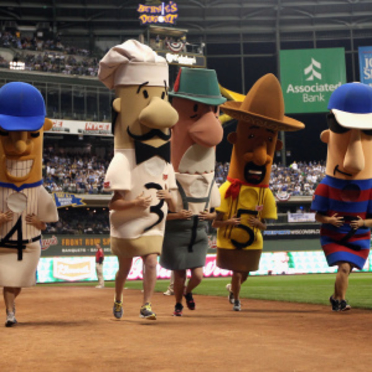 The Racing Italian Sausage at Brewers games has gone missing. (Christian Petersen/Getty Images)