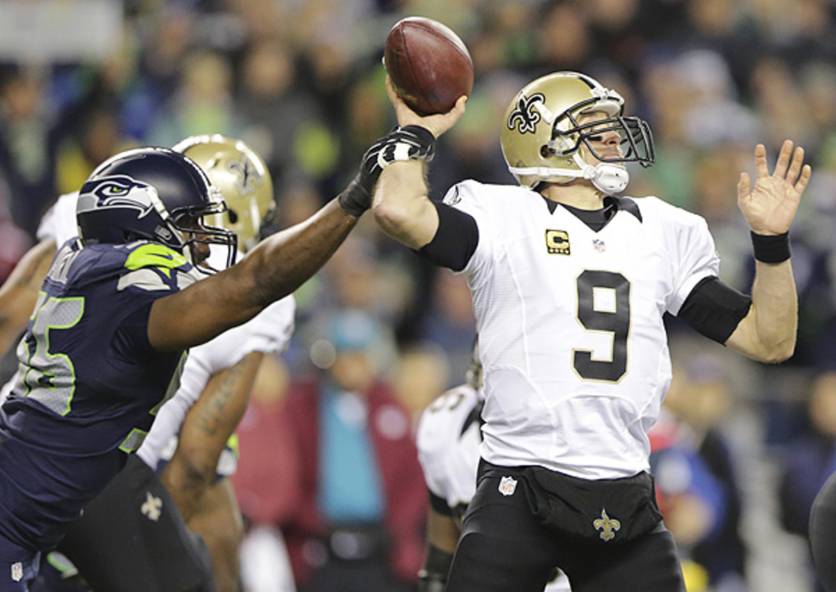 The Saints have struggled away from home, while the Seahaws have battled issues along their O-line.
