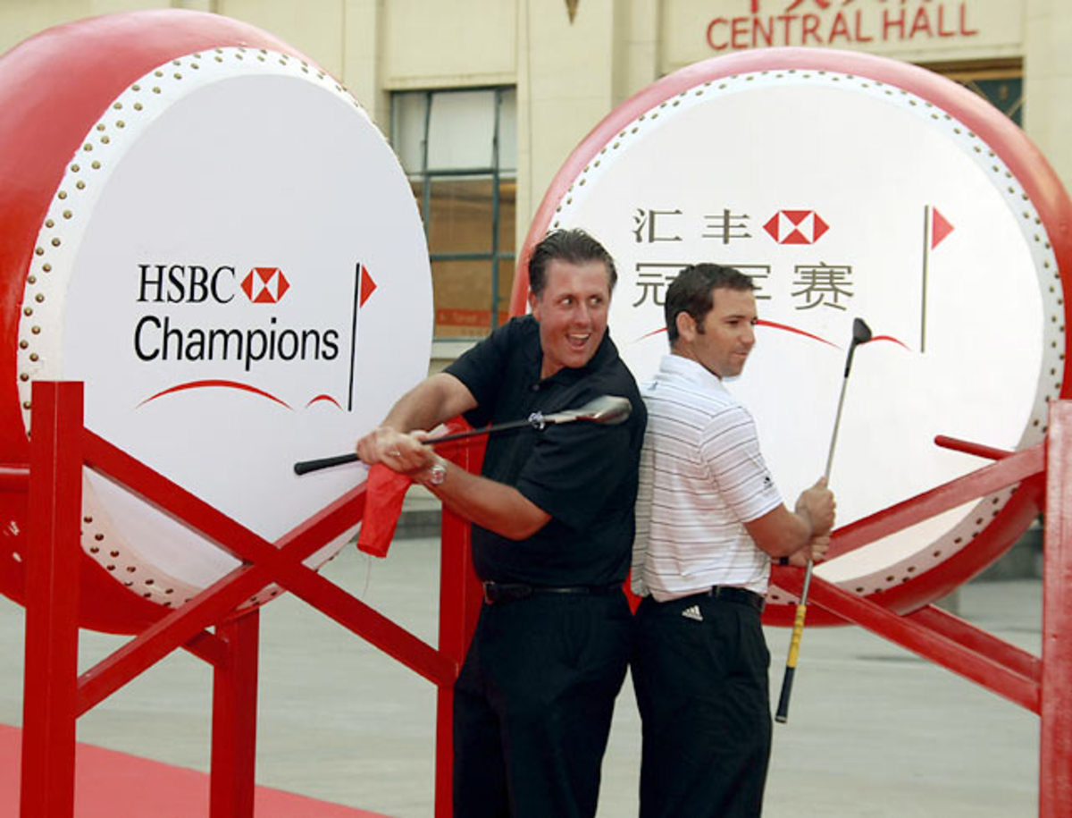 Phil Mickelson and Sergio Garcia