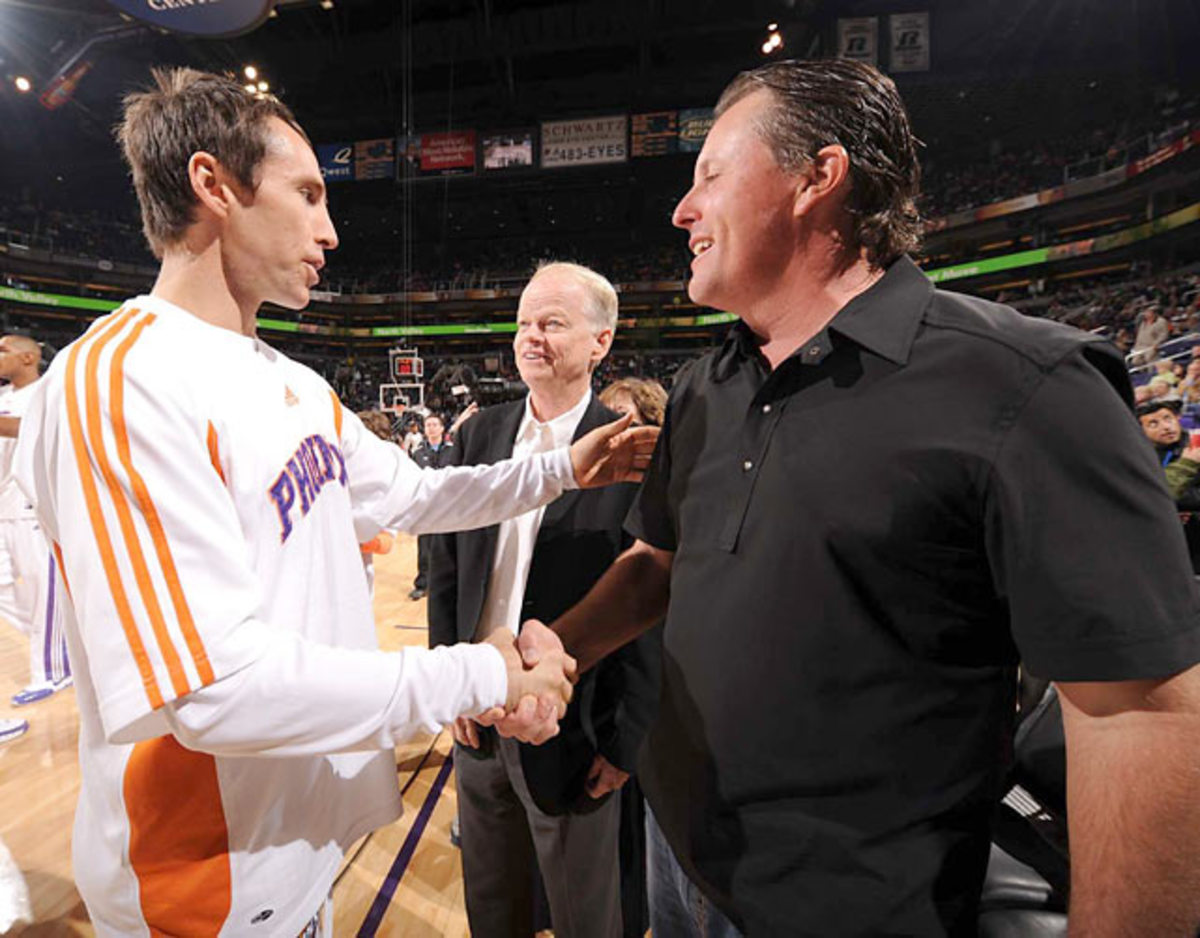 Phil Mickelson and Steve Nash