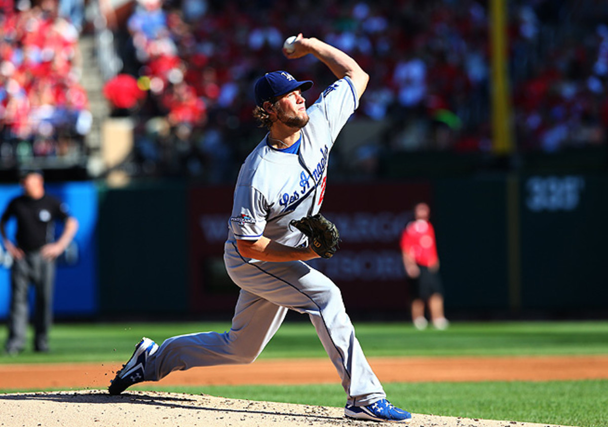 Although effective against the Cardinals, Clayton Kershaw was stung for a loss in Game 2 of the NLCS.