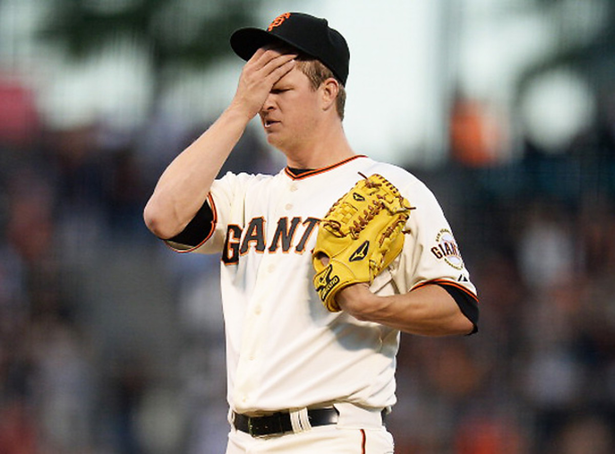Matt Cain has been uncharacteristically ineffective this season, just one of the Giants several problems. [Thearon W. Henderson/Getty Images]