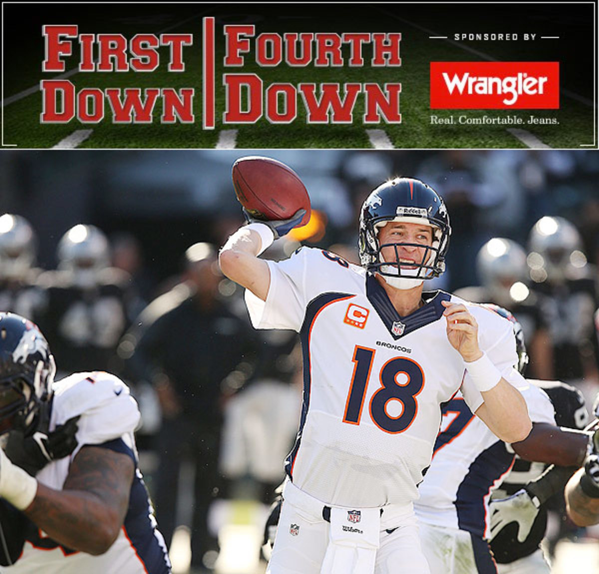 Peyton Manning and the Broncos enter the playoffs as the No. 1 seed in the AFC.