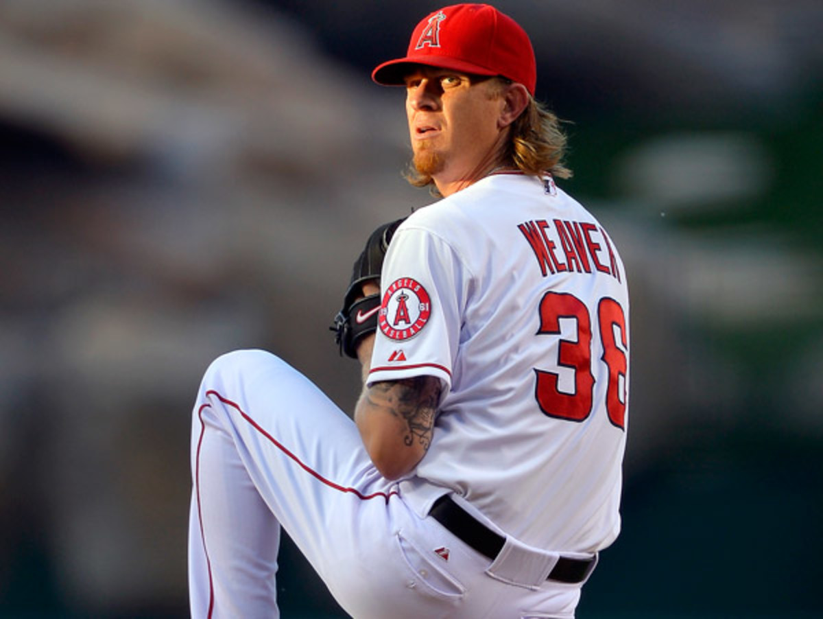 Jered Weaver went six innings and allowed just one run in his return from the disabled list. (Mark J. Terrill/AP)