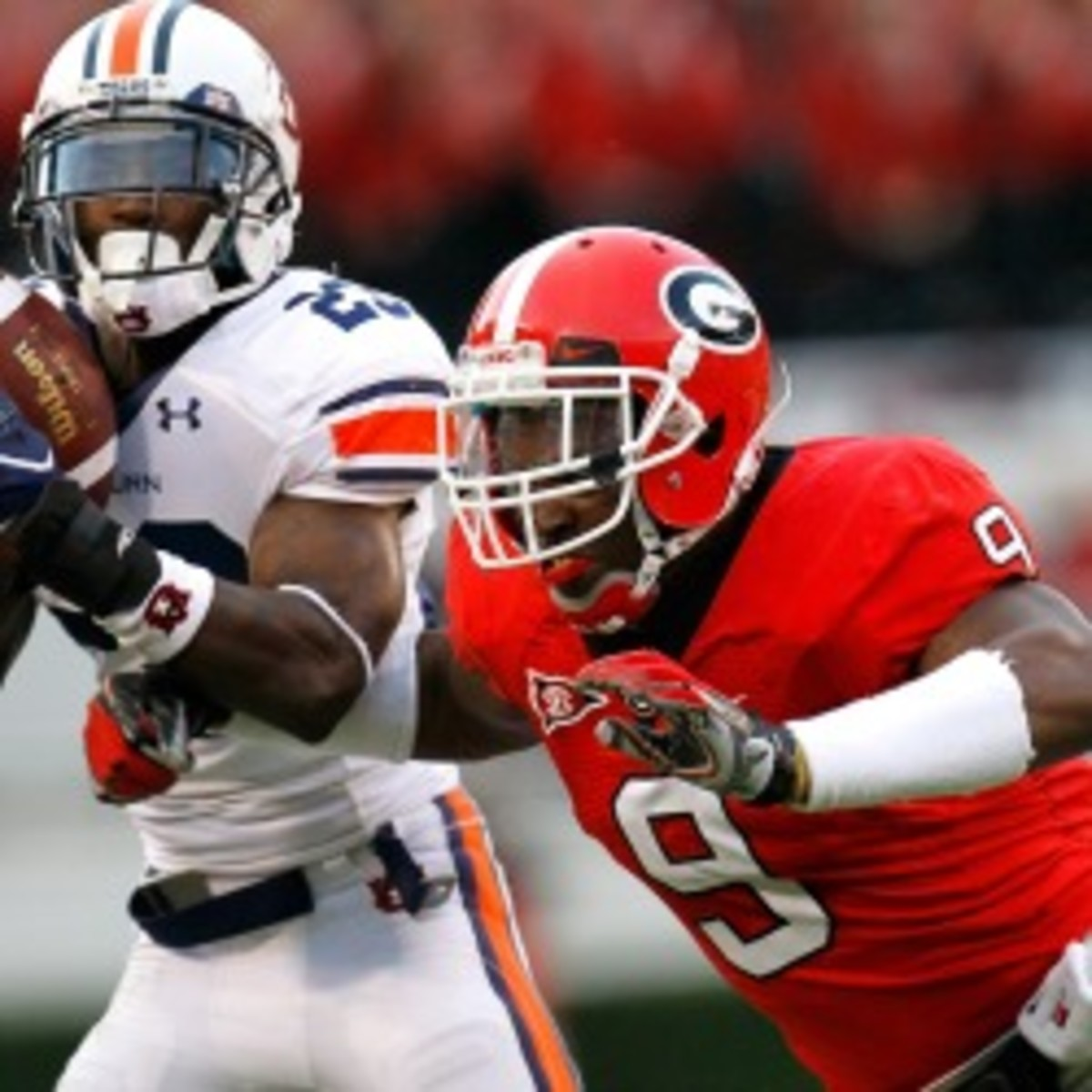 Former Georgia lineback Alec Ogletree was recently arrested for DUI. (Kevin C. Cox/Getty Images)