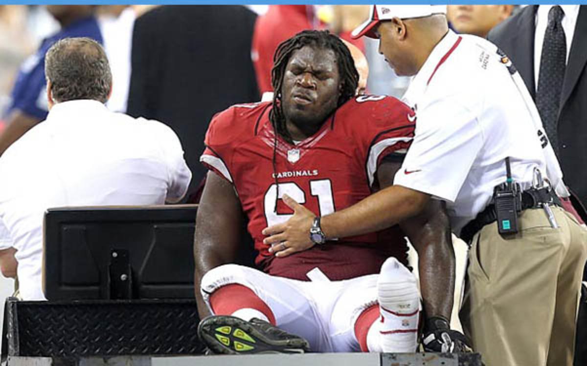 Cardinals rookie guard Jonathan Cooper was place on season-ending IR. (AP Photo/Rick Scuteri)