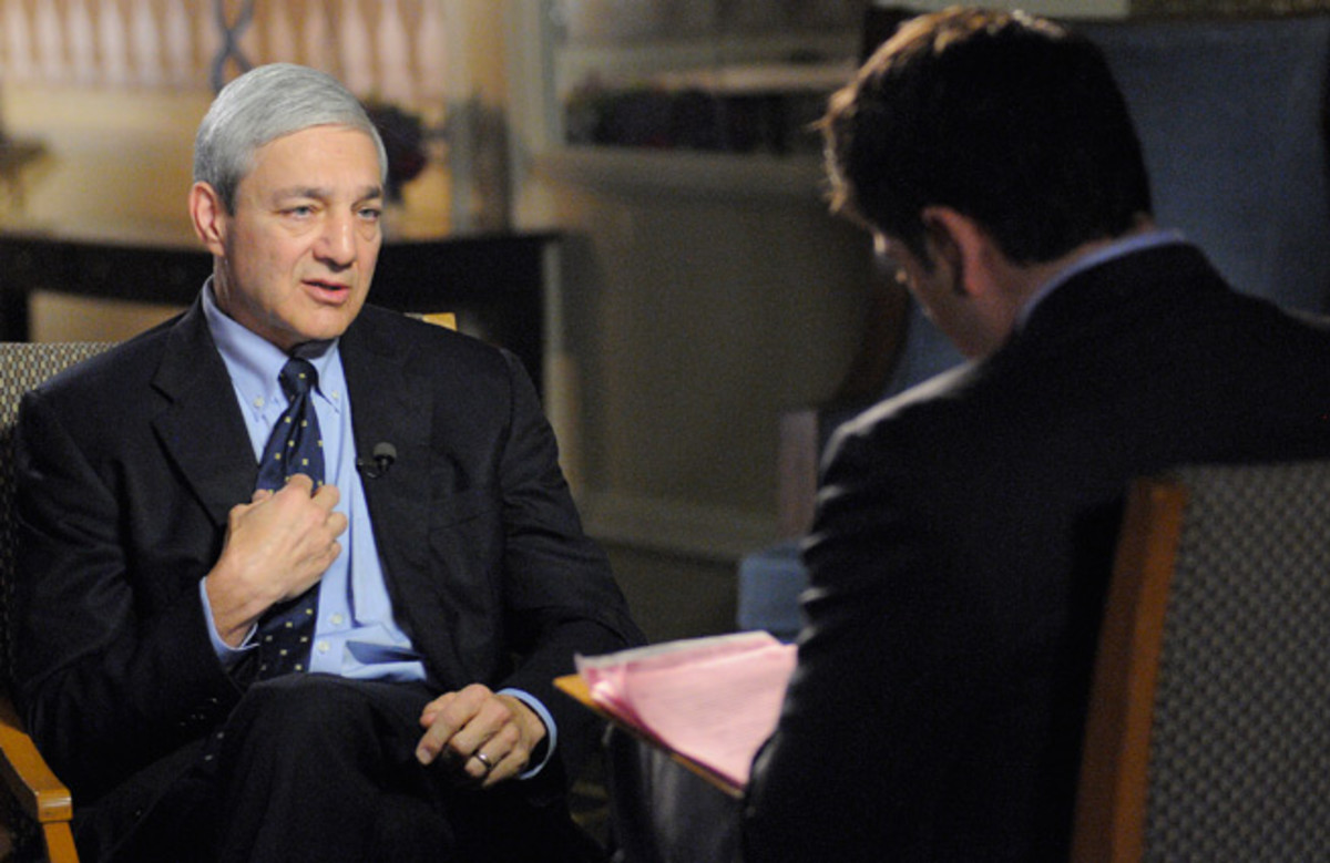 Monday's preliminary hearing will determine if former Penn State president Graham Spanier (left) will be charged.
