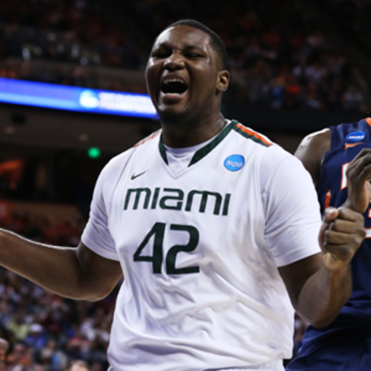 The Miami Hurricanes will be without center Reggie Johnson in the Sweet Sixteen.(Stephen Dunn/Getty Images)