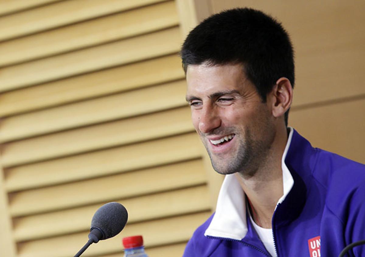 Novak Djokovic at the French