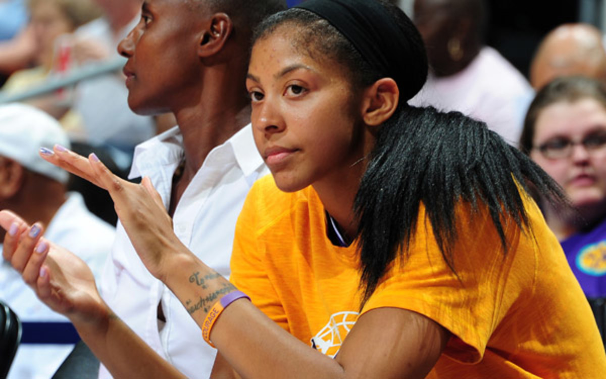 Sparks forward Candace Parker will reportedly win her second WNBA MVP. (Scott Cunningham/NBAE via Getty Images)