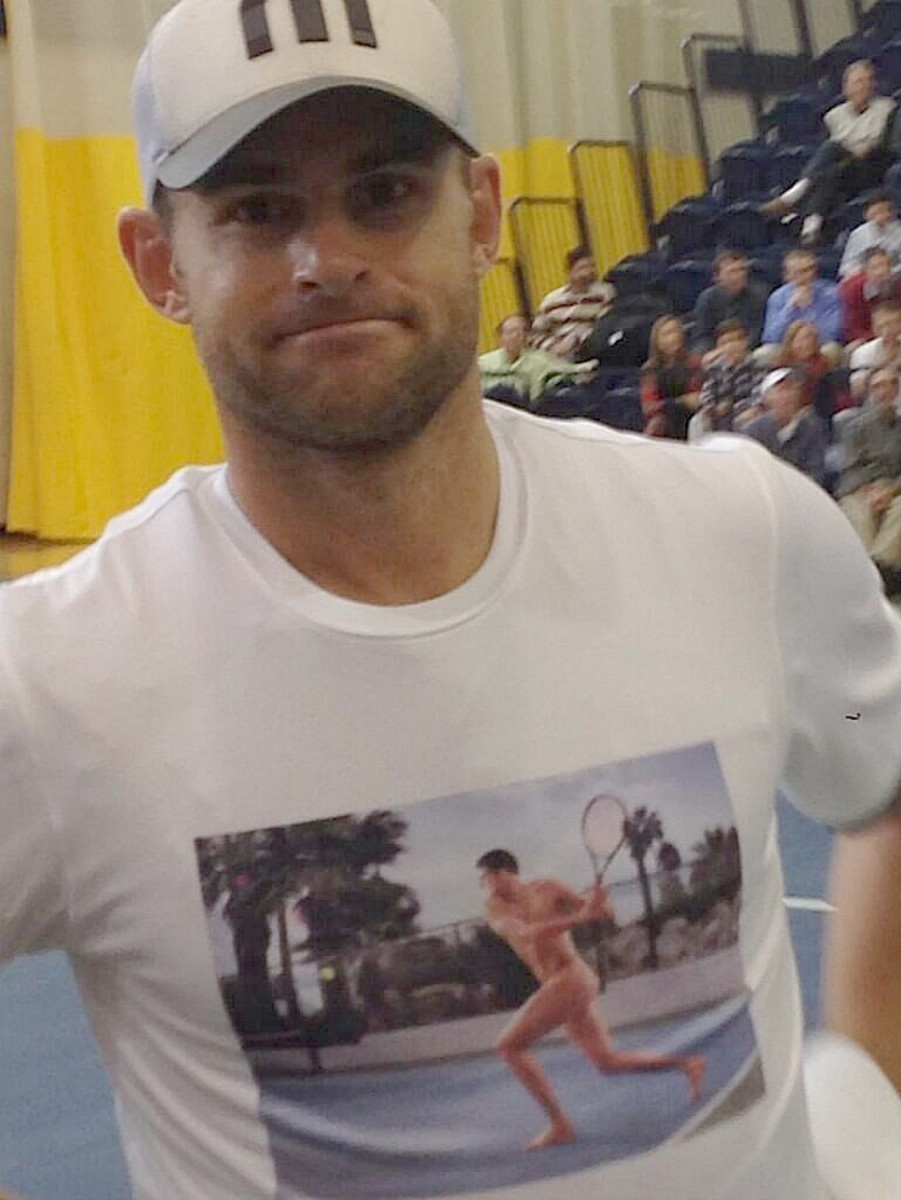 Andy Roddick trolling like only Andy Roddick can. (Photo via Twitter)