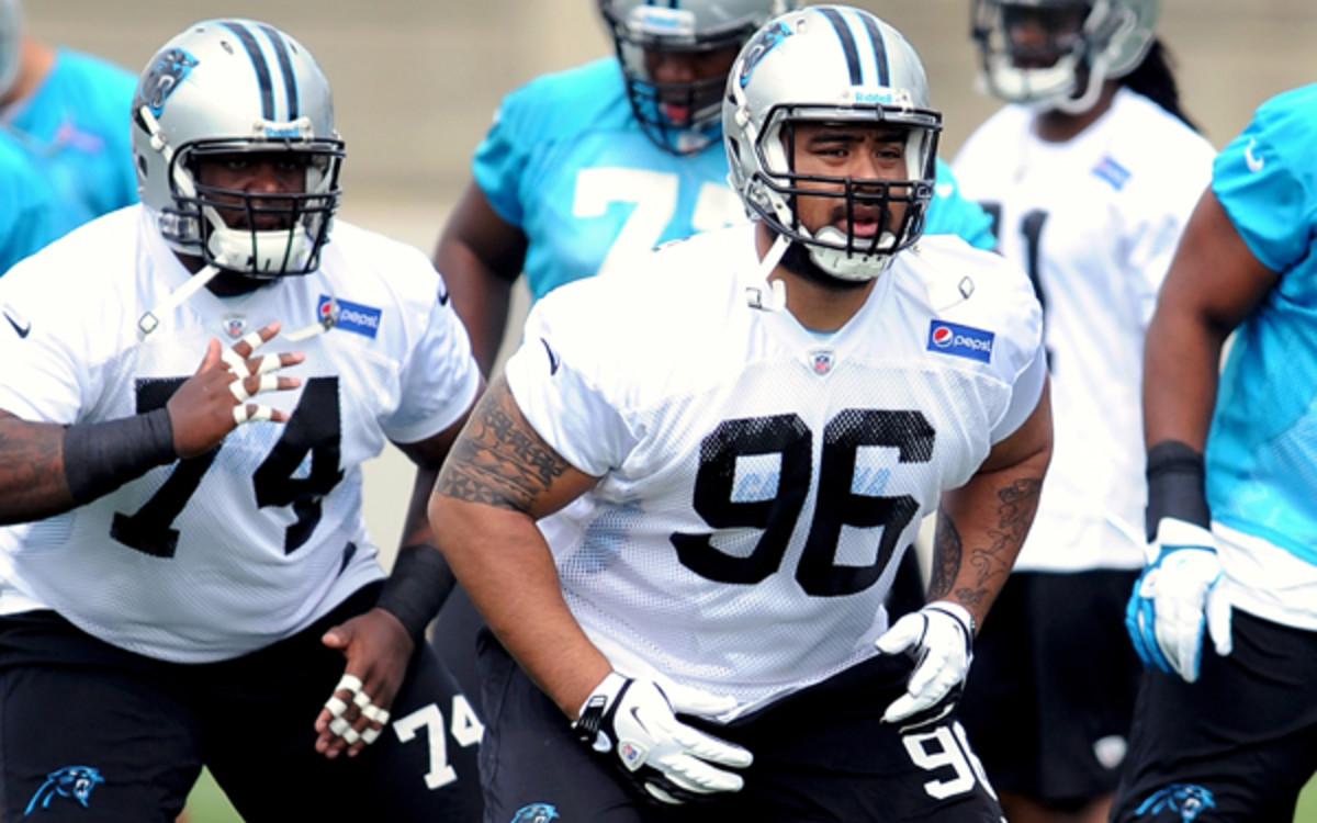The Panthers drafted Star Lotulelei after he received medical clearance for a heart condition. (Lance King/Getty Images)