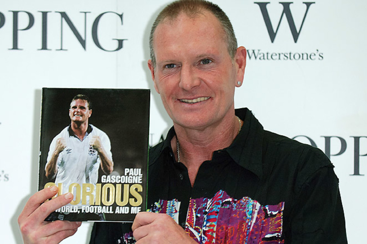 Paul Gascoigne, who played for England during the 1990 World Cup, was arrested at a railway station.