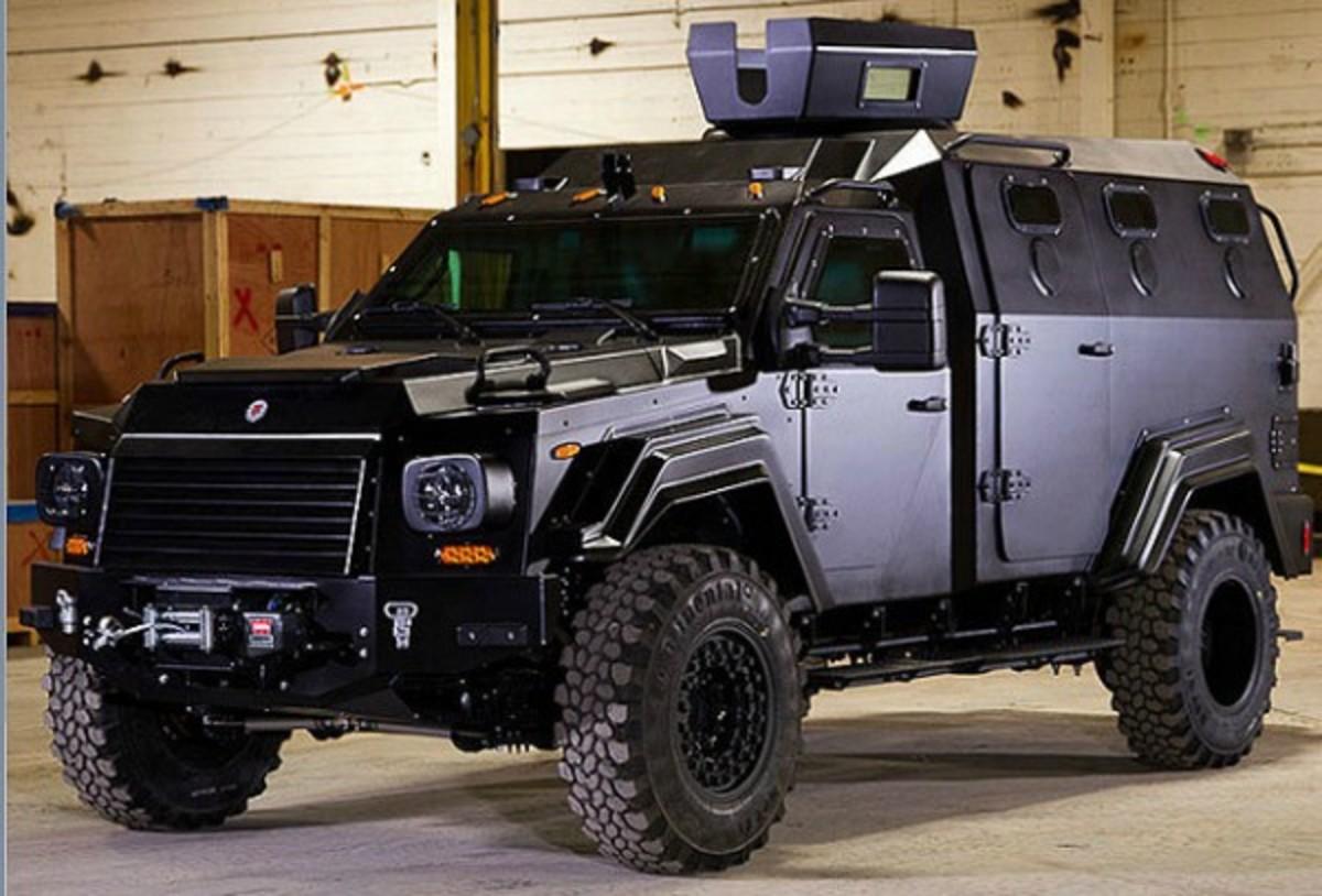 Knicks guard J.R. Smith reportedly is driving a Terradyne Gurkha armored truck. (Terradyne.com)