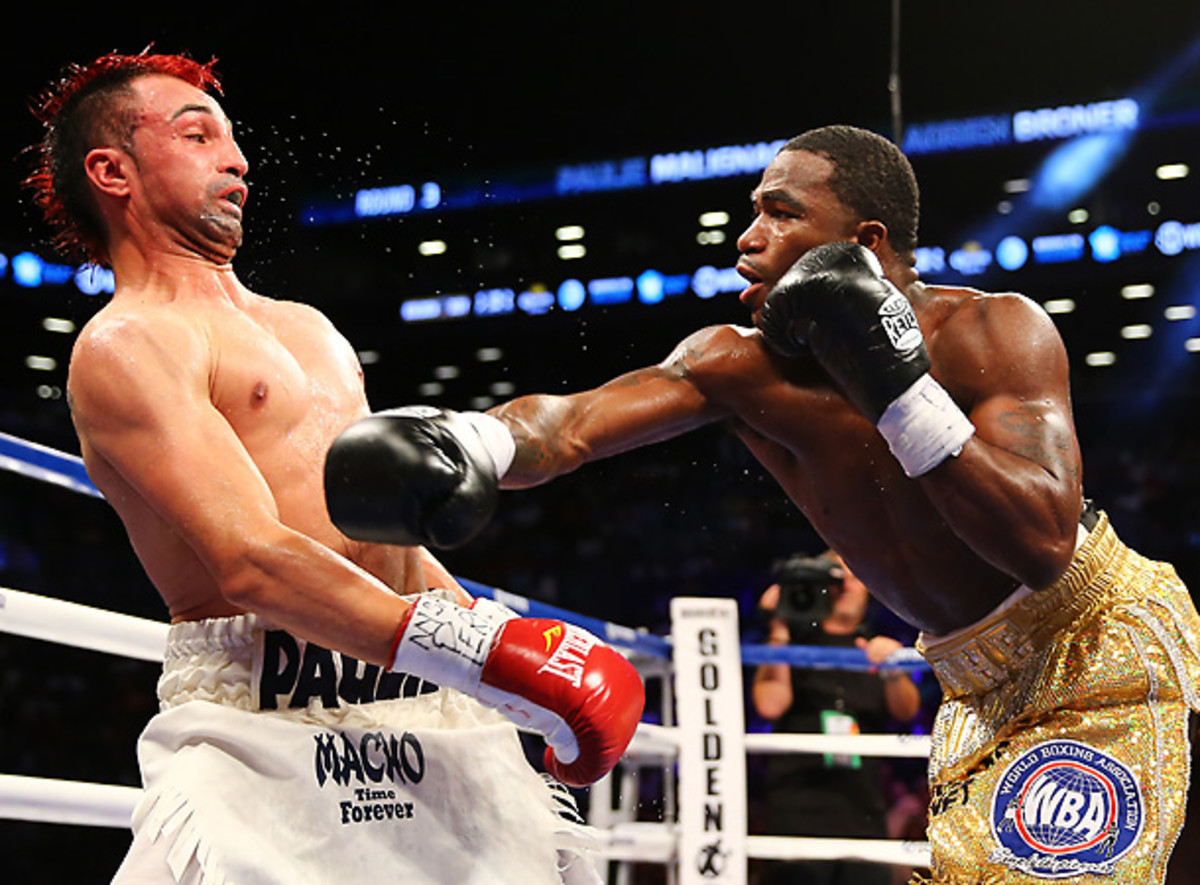 Adrien Broner didn't dominate his fight on Saturday, but he did more than enough to prevail. [Al Bello/Getty Images]