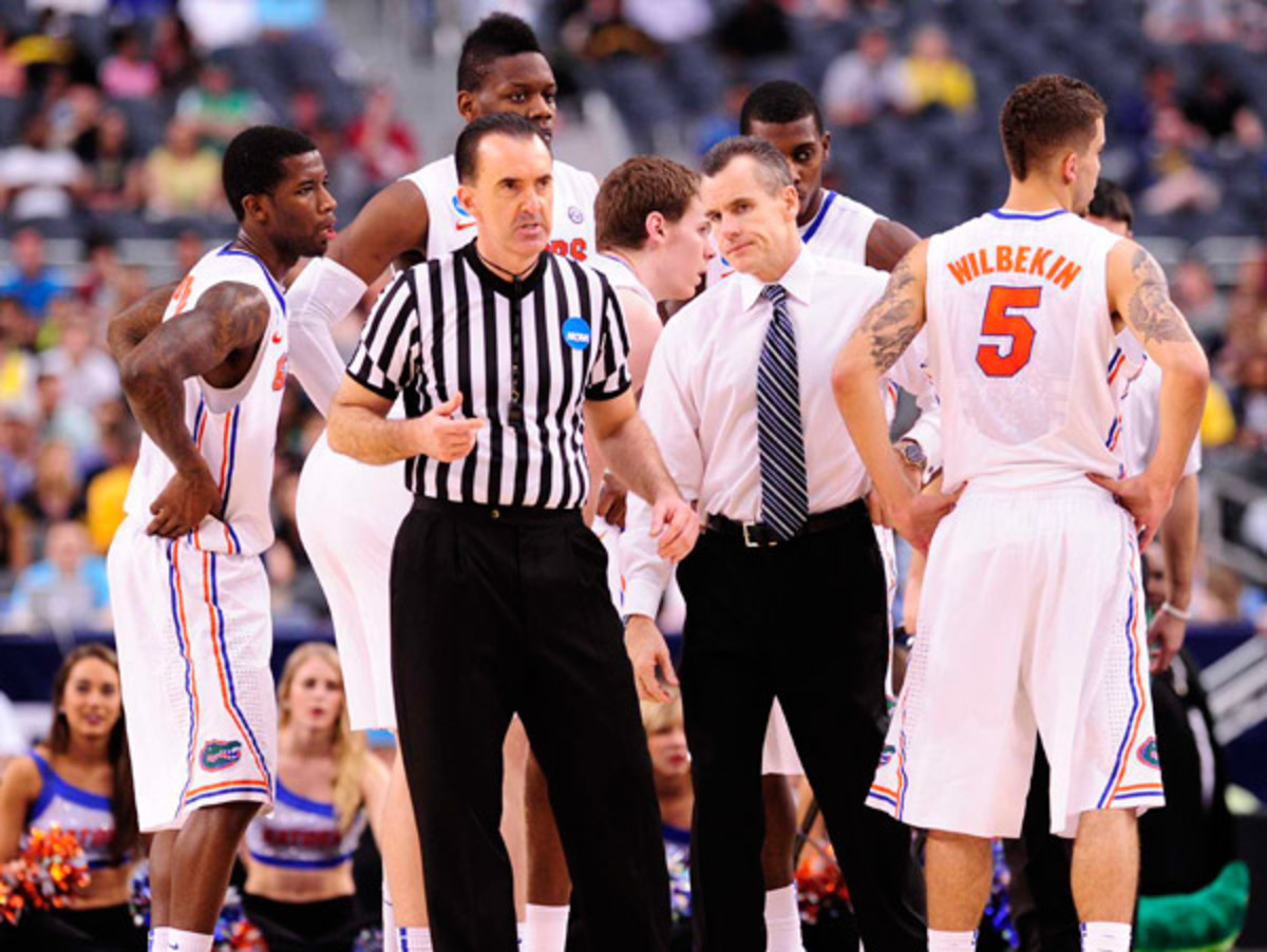 Billy Donovan's Florida Gators were routed from the get-go by Michigan. (Greg Nelson/SI)