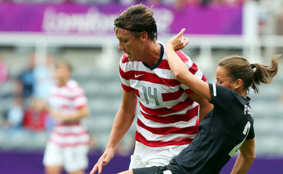 Abby Wambach scored during the U.S.'s 2-0 win over New Zealand in the 2012 Olympics.