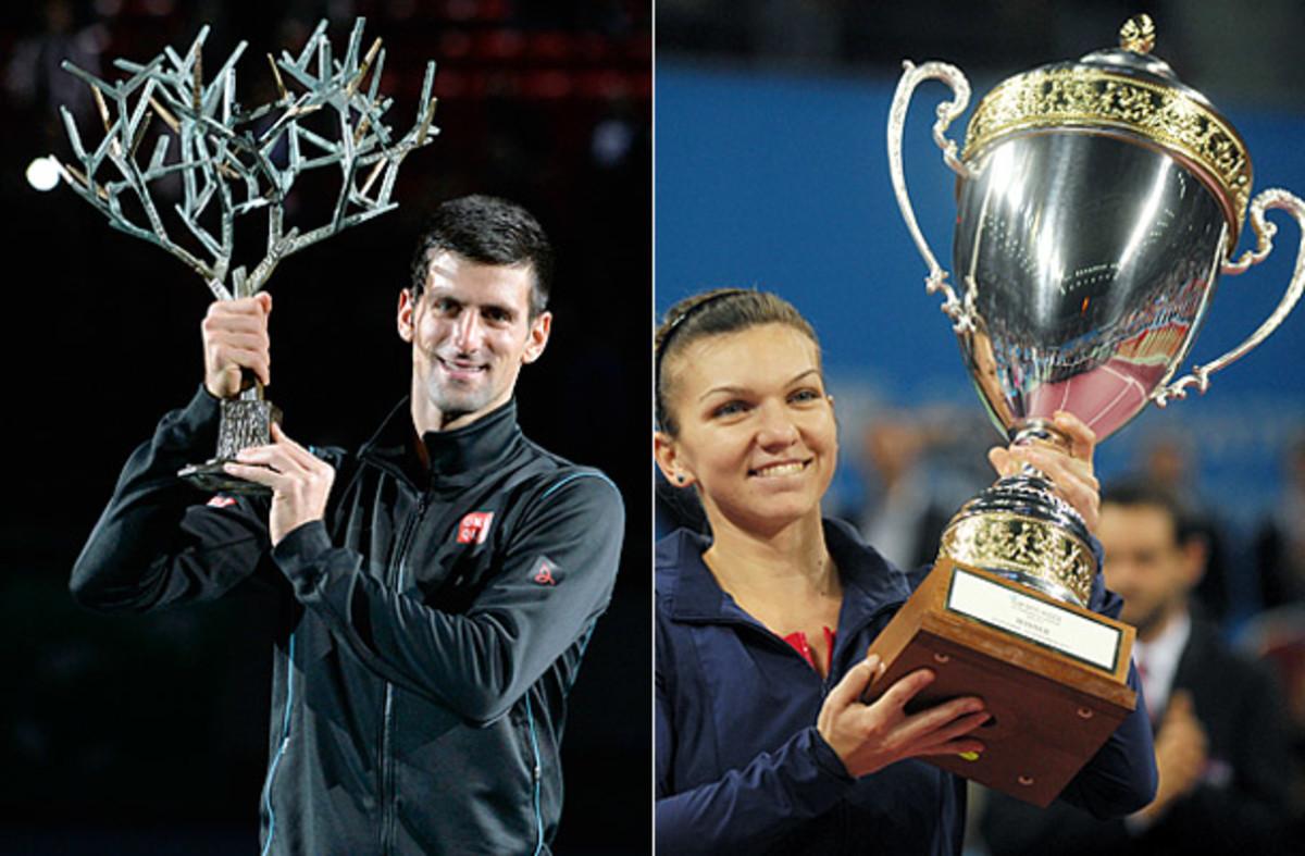 Novak Djokovic and Simona Halep