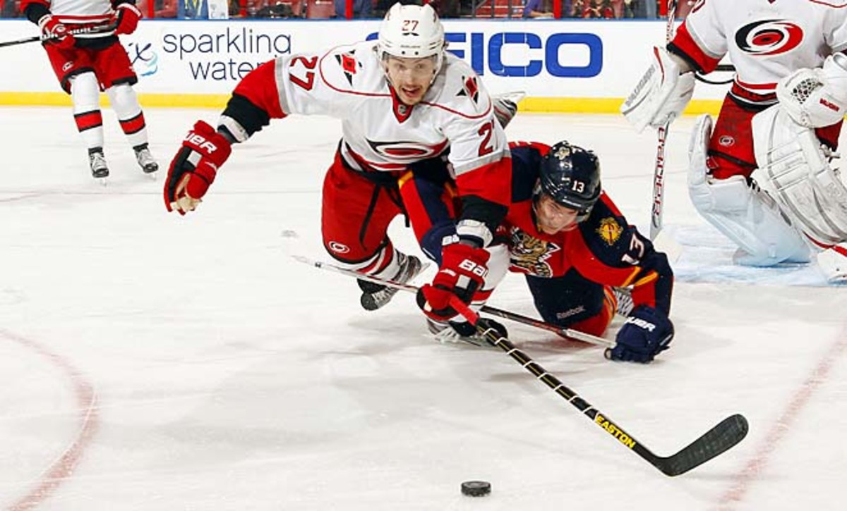 Justin Faulk has three goals and seven assists for the Hurricanes this season.