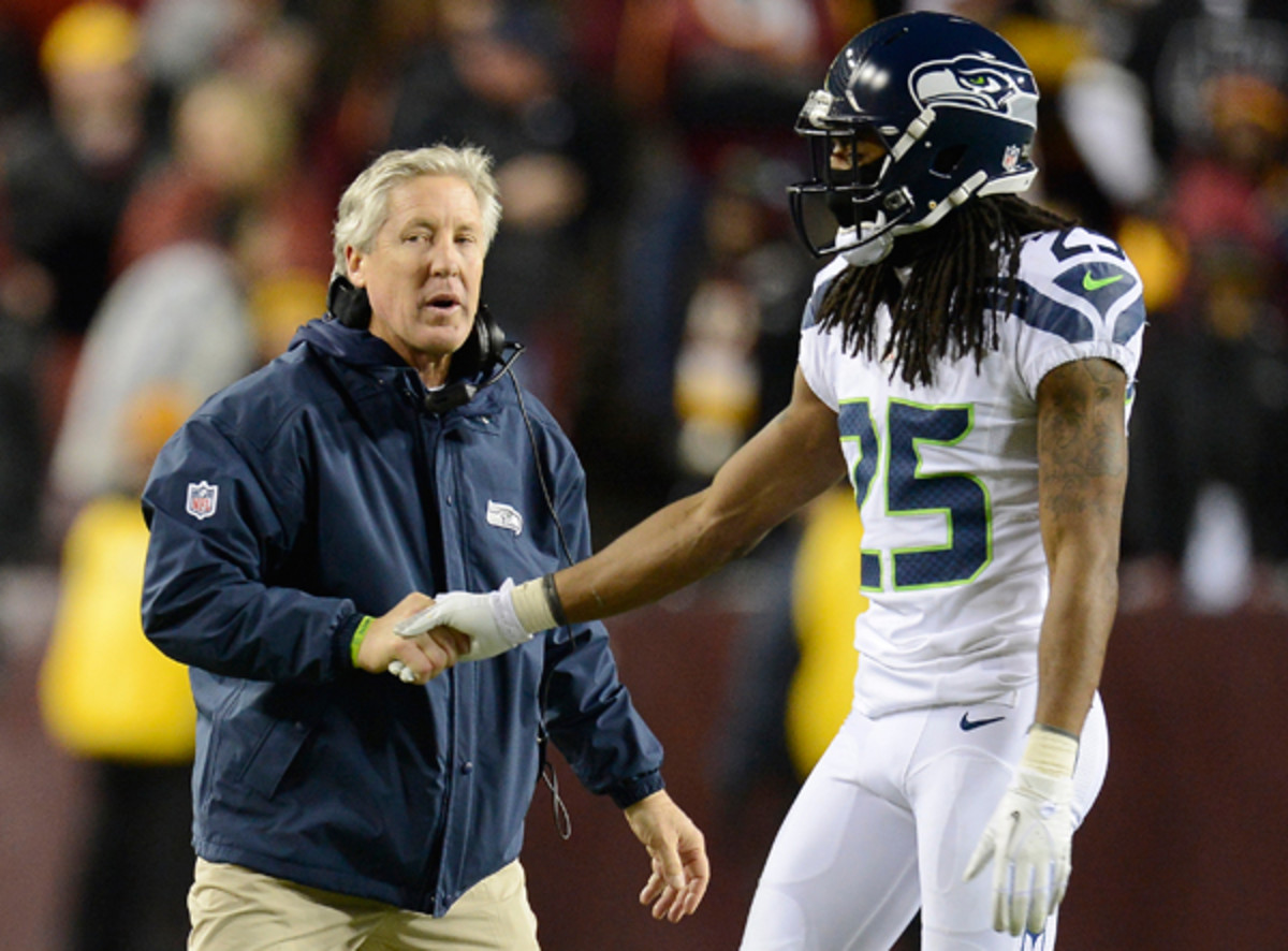 Pete Carroll and Richard Sherman may hold the key to the NFL's best defense in 2013. (McClatchy-Tribune via Getty Images)