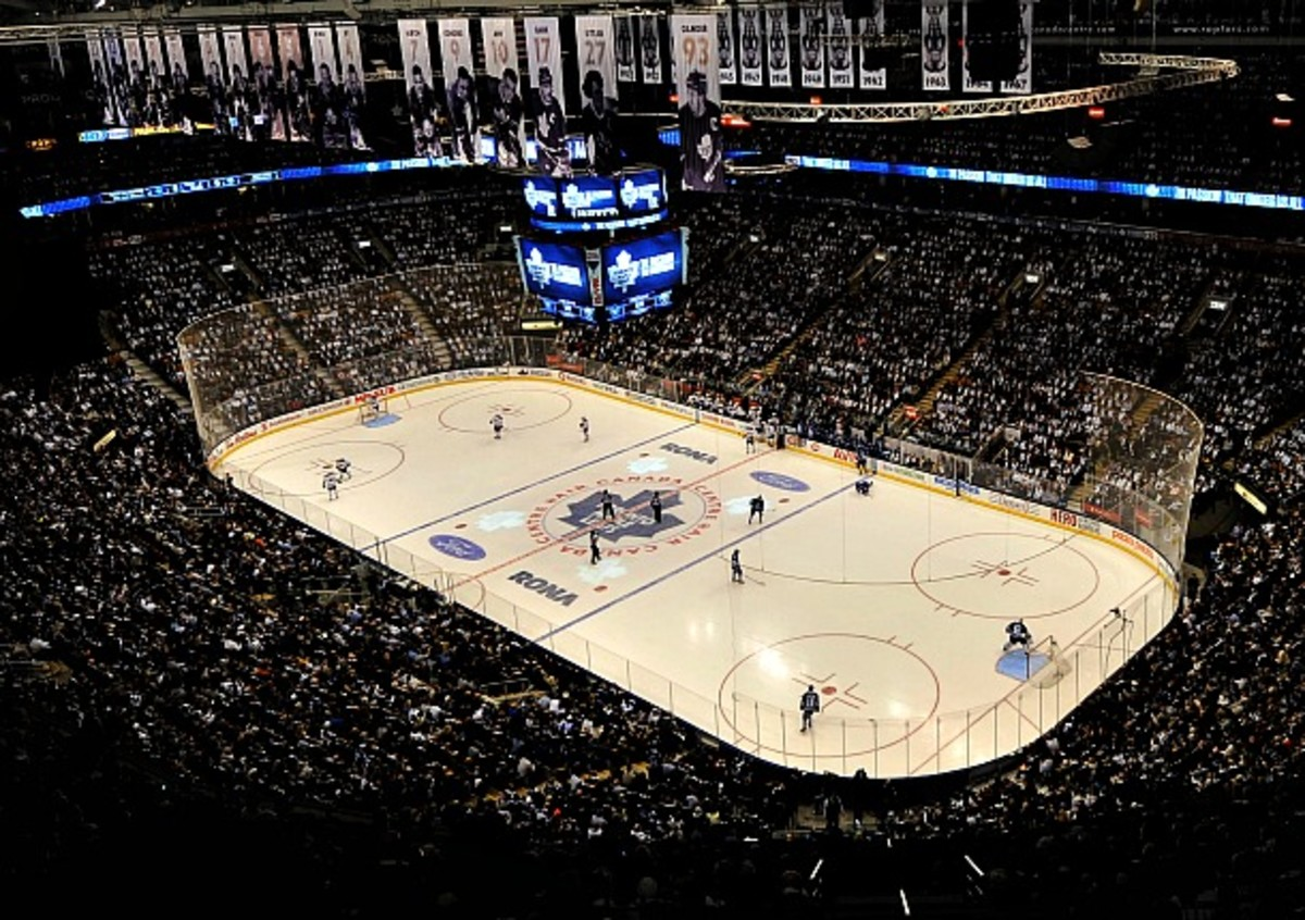 Air Canada Center, home of the Toronto Maple Leafs, the NHL's most valuable franchise.