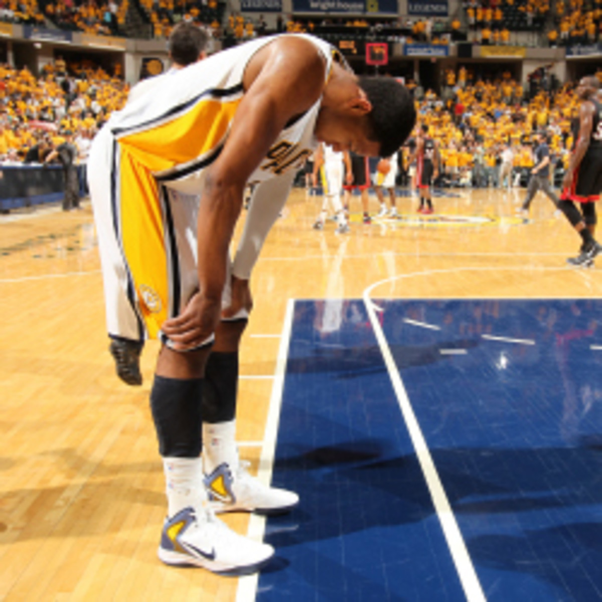 Danny Granger, who has missed all but five games this season with knee problems, may return for the Pacers on Wednesday. (Nathaniel S. Butler/Getty Images)
