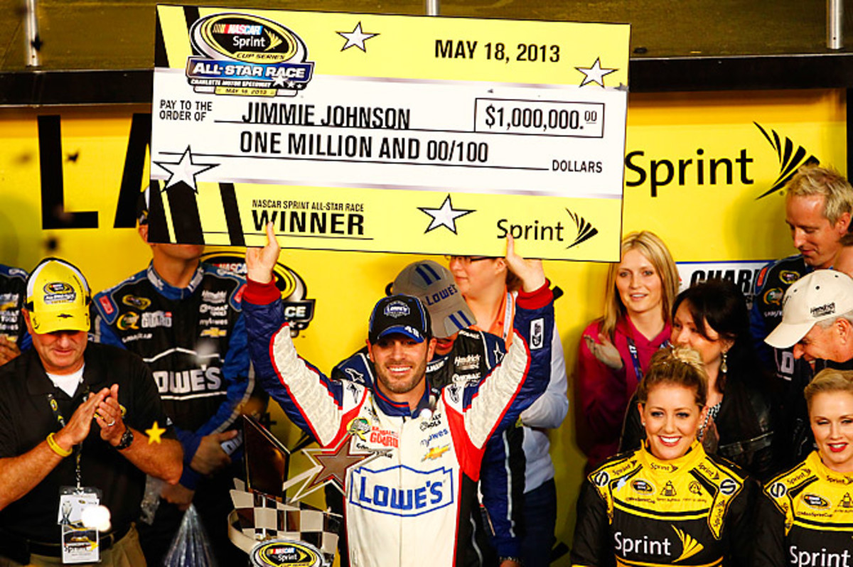 Jimmie Johnson won his second straight Sprint All-Star race, which was also his fourth in 12 years.