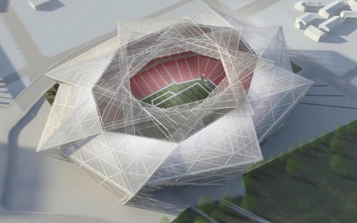 This is a rendering of the Atlanta Falcons new stadium (Courtesy of AtlantaFalcons.com)
