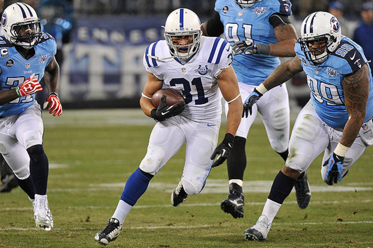Donald Brown rushed for 80 yards and two TDs in Week 11, while Trent Richardson ran for 22 yards.