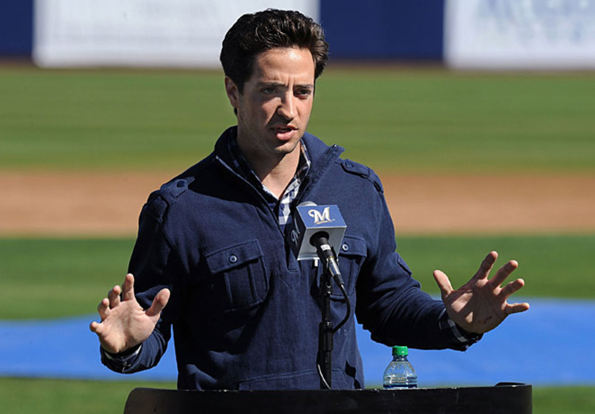 Though he hasn't done it this year, Ryan Braun answered questions about alleged PED usage at the start of spring training last year.