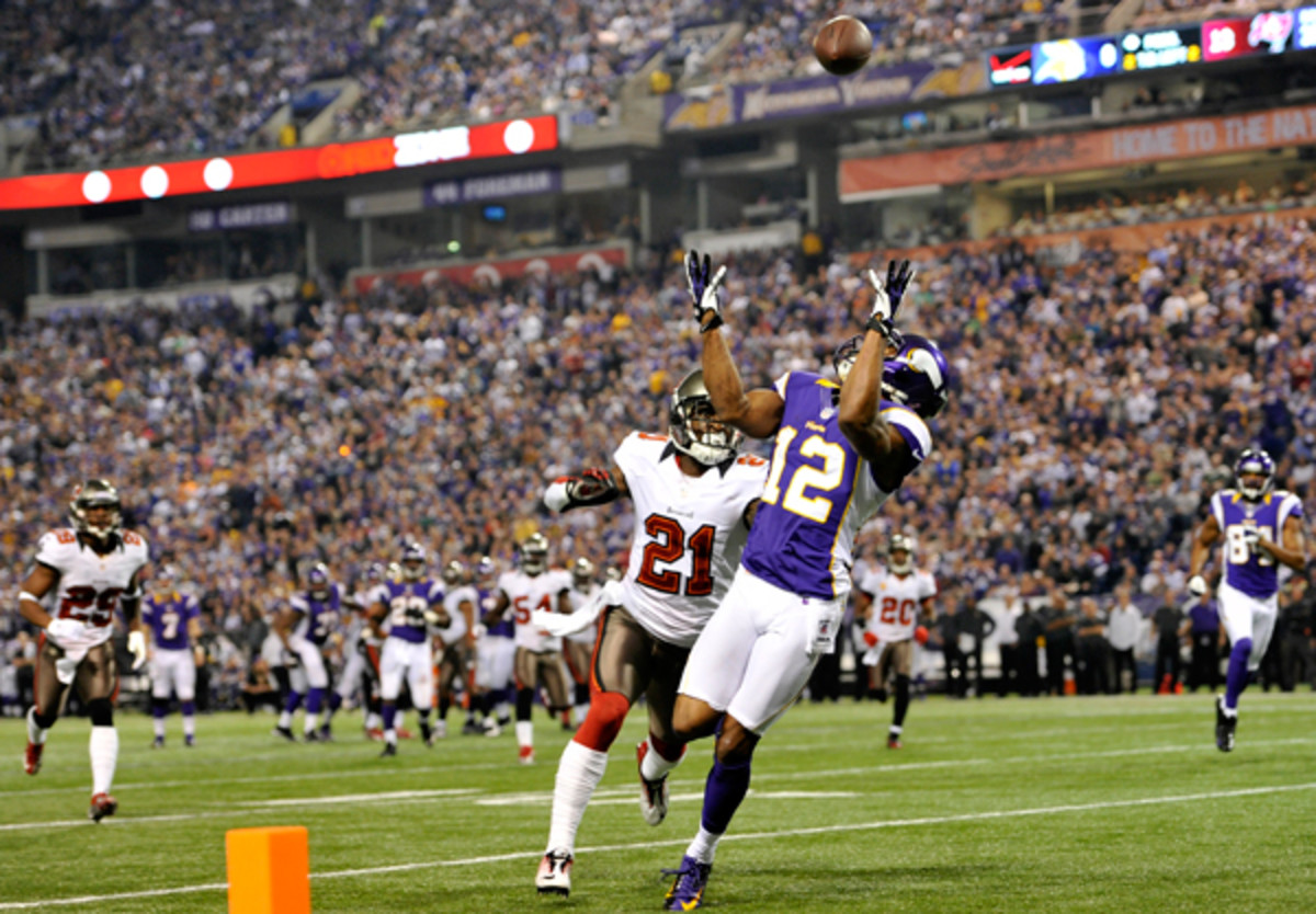 When he was healthy, Harvin created more than his share of big-time plays for the Vikings. (Jim Mone/AP)