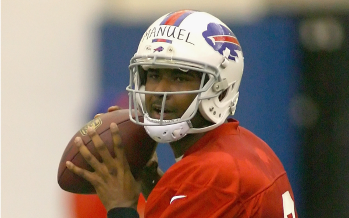 Bills coach Doug Marrone says EJ Manuel is the best rookie QB he is has coached. (Rick Stewart/Getty Images)