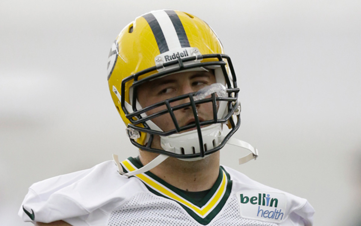 J.C. Tretter, an offensive lineman from Cornell, was the Packers' fourth-round draft pick. (Mike McGinnis/Getty Images)