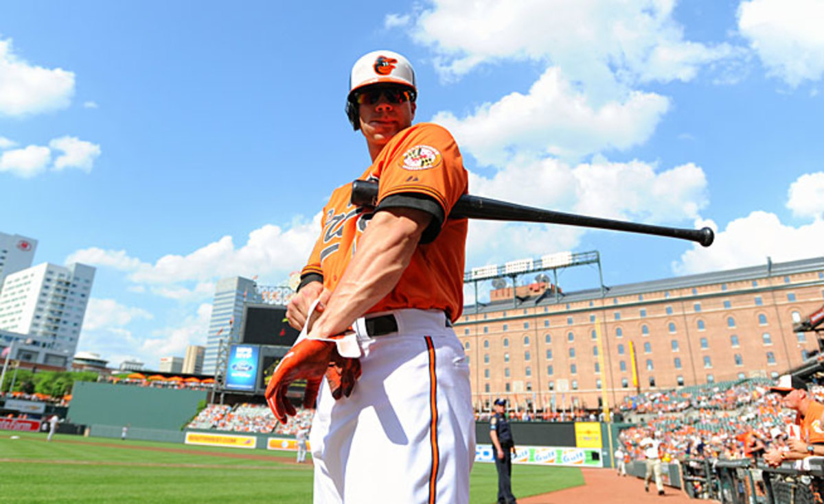 Chris Davis leads the majors in home runs (37), RBIs (7) and slugging percentage (.695).