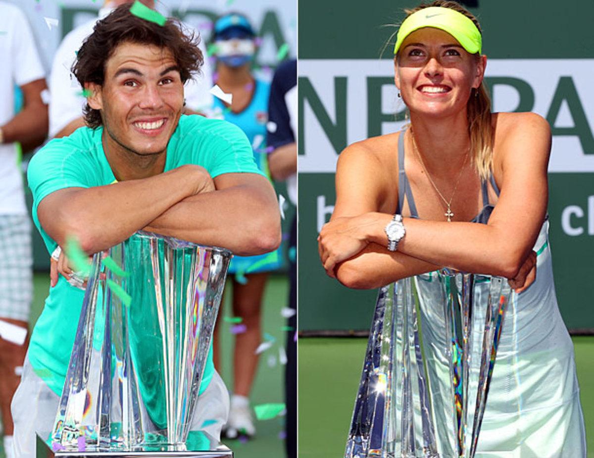 Rafael Nadal and Maria Sharapova