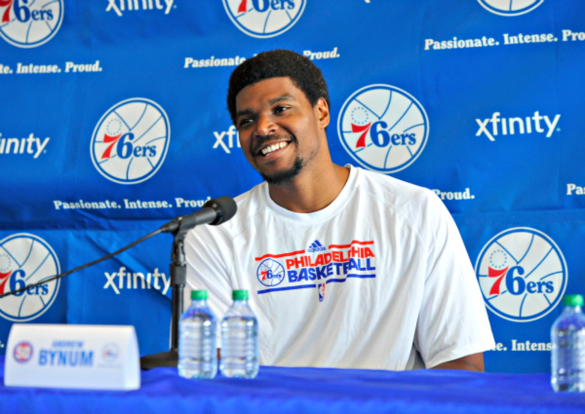 Andrew Bynum did not play a single game for the 76ers. (David Dow/NBAE via Getty Images)