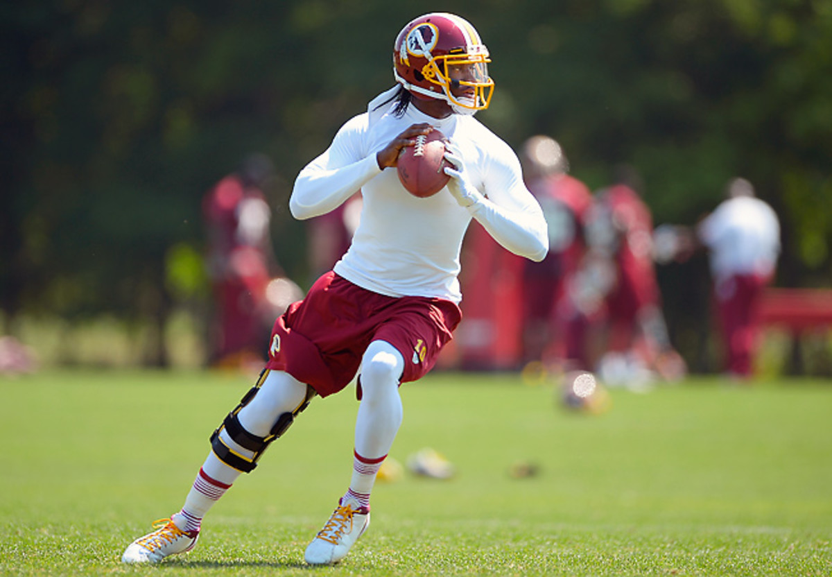 Even if he's ready for Week 1, Washington's Robert Griffin III will be a major fantasy injury risk.