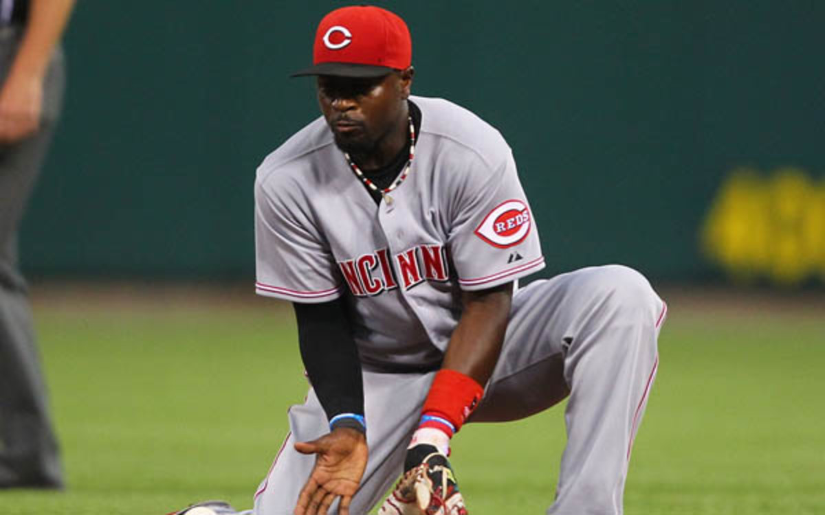 Brandon Phillips got testy with a reporter who pointed out his low OBP. (Dilip Vishwanat/Getty Images)