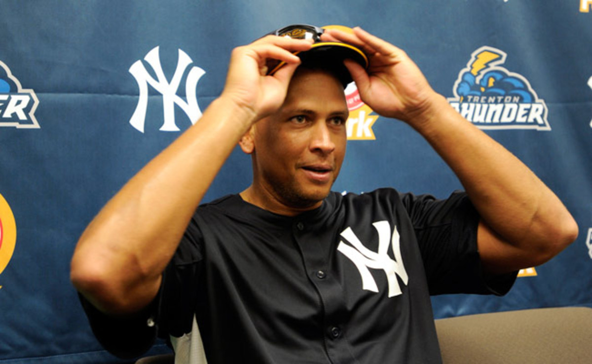 Alex Rodriguez has played only in the minor leagues since suffering a hip injury in January.